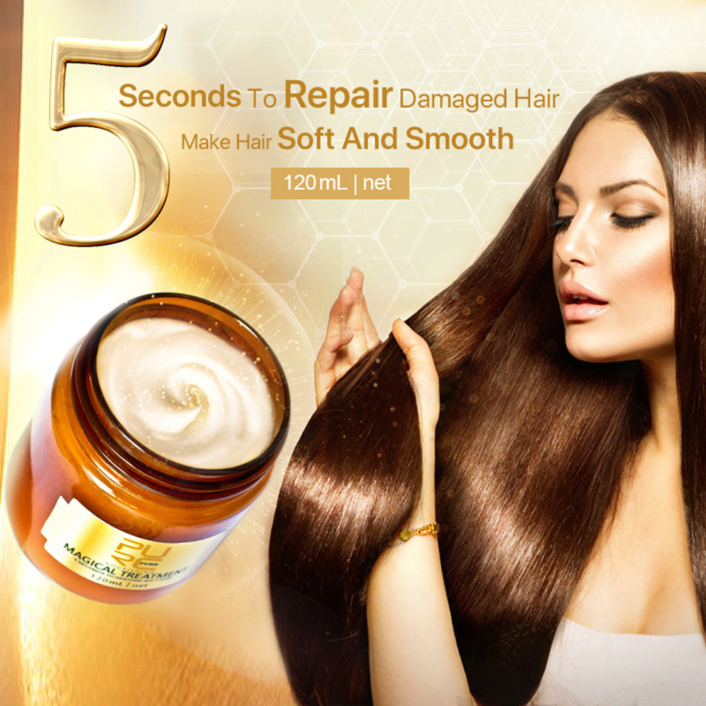 60/120ml Magic Healing Mask 5 Seconds Restores Damaged Soft Hair Mask Restore Soft Hair For All Hair Types Keratin Hair Care image