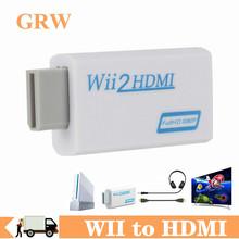 WII do konwertera HDMI Full HD 1080P WII na HDMI Wii 2 HDMI konwerter Audio 3 5mm dla PC monitor hdtv wyświetlacz Wii adapter HDMI tanie tanio GRWIBEOU Kable HDMI Woreczek foliowy WII to HDMI Converter Black and White Full HD 1080P WII to HDMI Wii To HDMI Adapter for PC Monitor Display