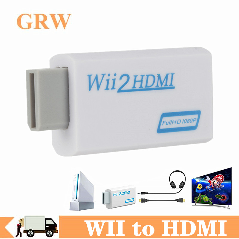 WII To HDMI Converter Full HD 1080P WII To HDMI Wii 2 HDMI Converter 3.5mm Audio For PC HDTV Monitor Display Wii To HDMI Adapter
