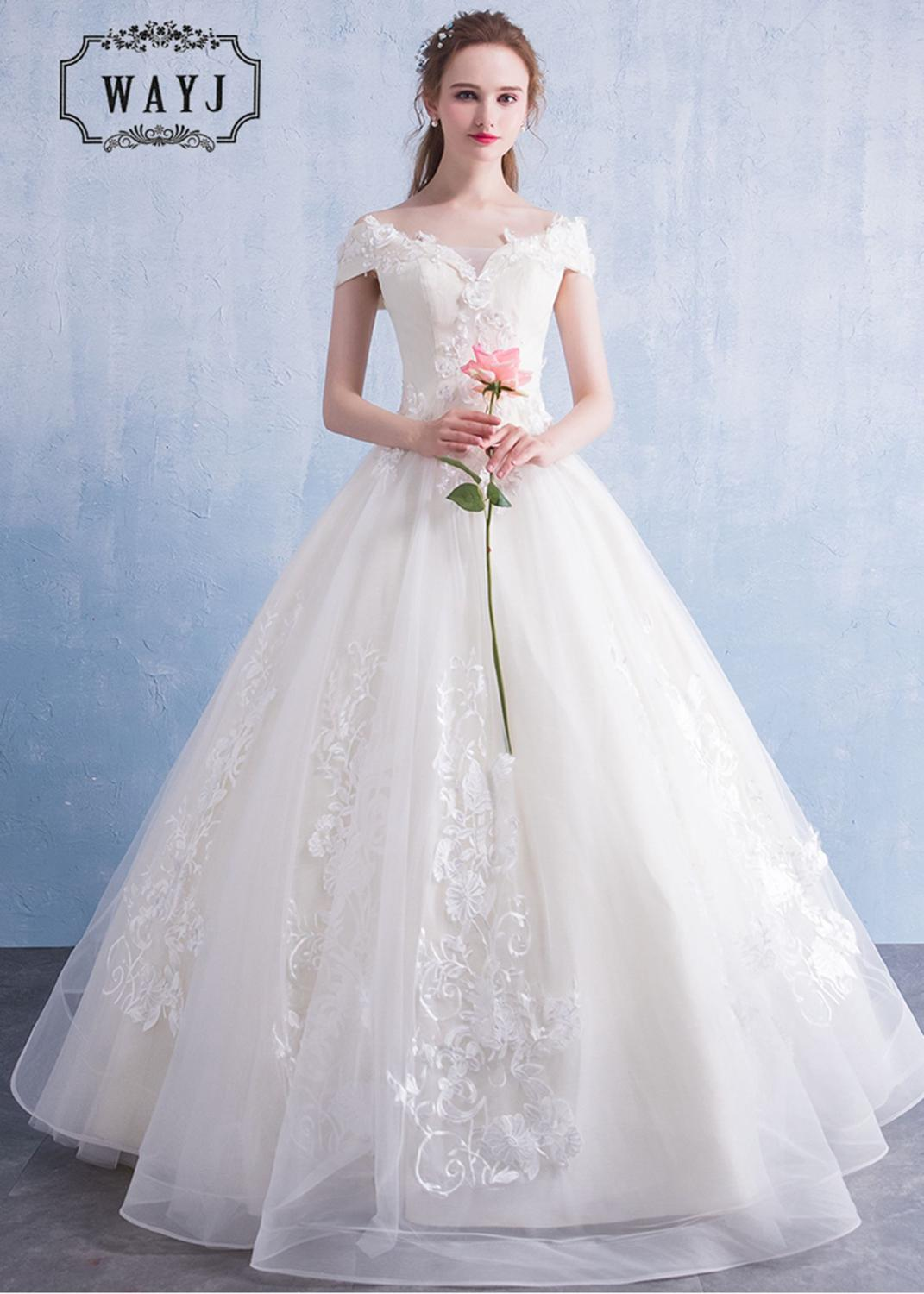 New Design Sweetheart Princess Wedding Dresses 2020 Elegant Beading Flowers Embroidery Wedding Gowns Custom Lace Up Robe Mariage