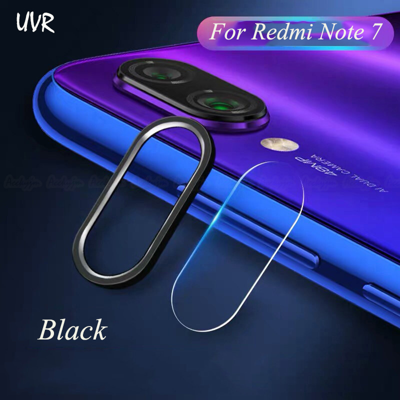 For Xiaomi Redmi Note 7 Camera Lens Protector Tempered Glass Camera Film Camera Metal Ring Case Cover Bumper Redmi Note 7 Pro
