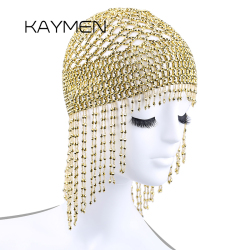 Girls Womens Exotic Cleopatra Beaded Belly Dance Head Cap Hat / Hair Accessory / Headpiece for Party Wedding Showing 1015
