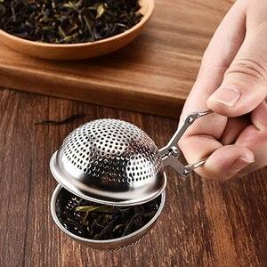 Image 4 - Filtro de chá verde de folha solta do filtro do saco de chá do metal reusável do infusor do chá do aço inoxidável do filtro do chá da malha para o chá do bule da caneca