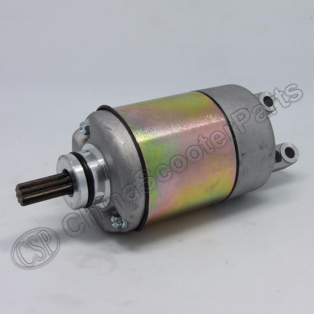 9 Teeth Starter Motor For Linhai VOG 250 Cc 300  Majesty YP250 Xingyue XY260T-4 Eco Power 260 169MM 170MM 173MN
