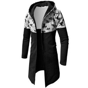 Image 1 - Nouveau sweat à capuche pour homme 2019 marque mâle à manches longues à capuche épissure sweat hommes Moletom Masculino sweats à capuche mince survêtement 3XL