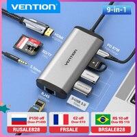 Vention USB C HUB tipo C a USB 3.0 Dock Station USB C HDMI RJ45 4K per MacBook Pro Air accessori tipo C 3.1 Splitter HUB USB