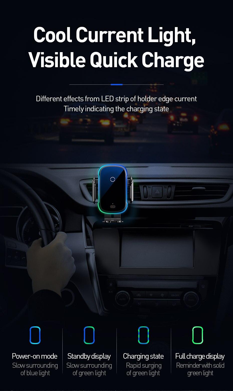 Baseus 15W Wireless Auto Ladegerät