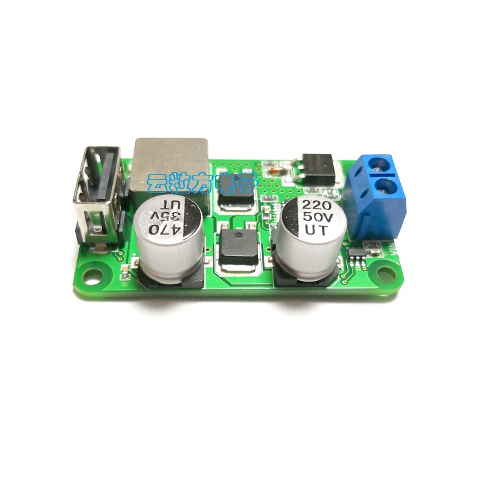 5V5A DC DC Step-Down Power Module USB Charging Board High Current USB Support QC3.0 Fast Charge