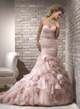 Бесплатная доставка Новые Модные Розовые Свадебные платья из