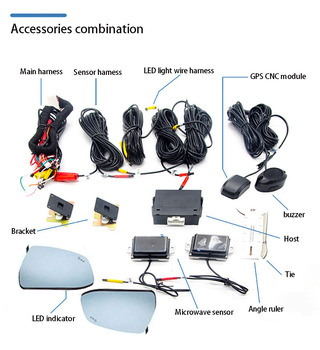 Dla Kia dla mazdy dla Audi dla BMW dla toyoty dla hondy dla volkswagena dla Hyundai BSD radar mikrofalowy monitorowanie martwego punktu tanie i dobre opinie NoEnName_Null NONE CN (pochodzenie) Stała Prędkość 50 m Radar wykrywania sygnału Hiden Wyświetlacz LED