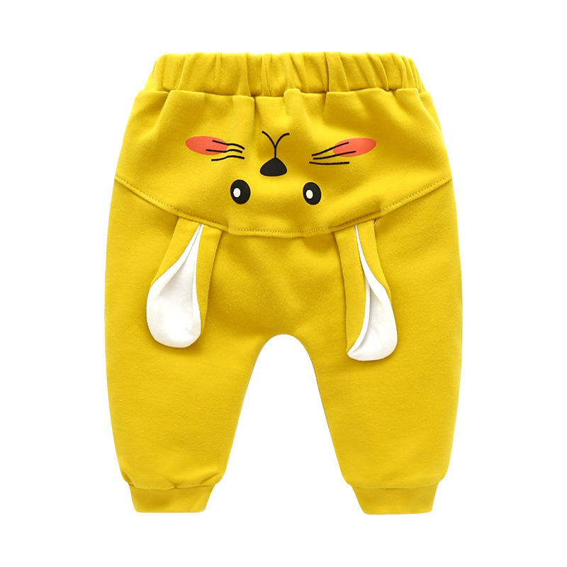 Yellow Cartoon Pattern Baby Boy Bottoms Baby Girl Bottoms Baby Boy Trousers Baby Pant