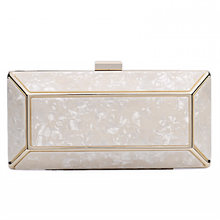 New Sweet Lady Ice Crack Acrylic Dinner Bag Personality Single Shoulder Slung Chain Box Bag(China)