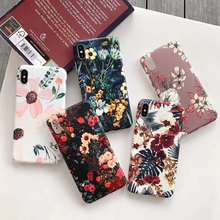 Luxury Vintage Flowers Phone Cases For iphone 11 Pro XS Max XR X 6 6S 8 7 Plus Case Silicone Soft TPU Matte Back Cover Funda luxury matte leopard print phone case cover for iphone xs max xr x 8 7 6 6s plus 11 pro soft back cases colorful fashion shell