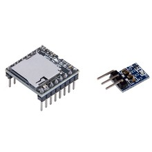 1 Pcs DFPlayer Mini MP3 Player Modul & 1 Pcs Ams1117-3,3 Ldo 800Ma Dc 5V zu 3,3 V Step-Down Power Supply Module(China)