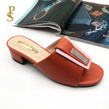 Colorful vamp slippers African style lady's slippers mama shoes Low heels slippers