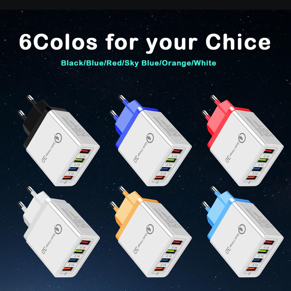 Image 2 - CinkeyPro 4 Ports USB Charger for Samsung iPhone Huawei Wall Mobile Phone 5V/3.5A Universal Adapter Fast Charging-in Mobile Phone Chargers from Cellphones & Telecommunications