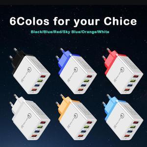 Image 2 - CinkeyPro 4 منافذ USB شاحن لسامسونج آيفون هواوي جدار الهاتف المحمول 5 فولت/3.5A محول عالمي شحن سريع