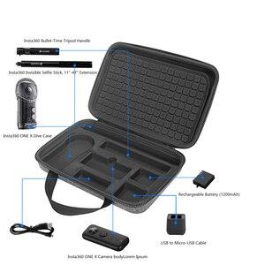Image 2 - Le plus récent étui de transport rigide EVA pour caméra daction Insta360 ONE X 360 et accessoires boîte de rangement de protection sac Portable