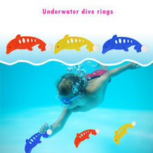 Education For Kids Fun Learning Toys For Children Diving Underwater Swimming Colorful Pool Sink Training Diving Dolphin ToyW817(China)