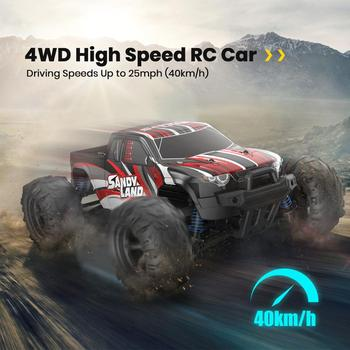 DEERC RC Car Electric 1:18 Scale 30+ MPH 4WD Off Road Monster Trucks All Terrain 40KM/H High Speed Racing Car Toy For Children free shipping rovan bm305 car big monster 4wd 30 5cc powerful engine