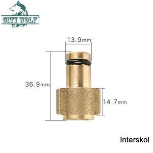 Image 5 - high pressure car washer brass adaptor snow foam gun metal lance joint for Karcher Lavor Huter AR Makita Interskol Bosche Alto