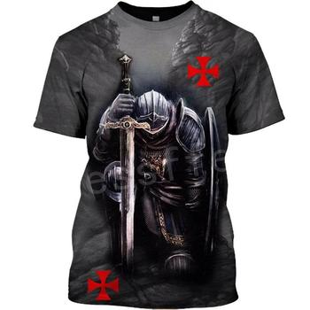 Tessffel Knights Templar Armor Cavalier Streetwear Harajuku Tracksuit New Fashion 3DPrint Unisex Shorts T-shirts Men/Women s-1 1
