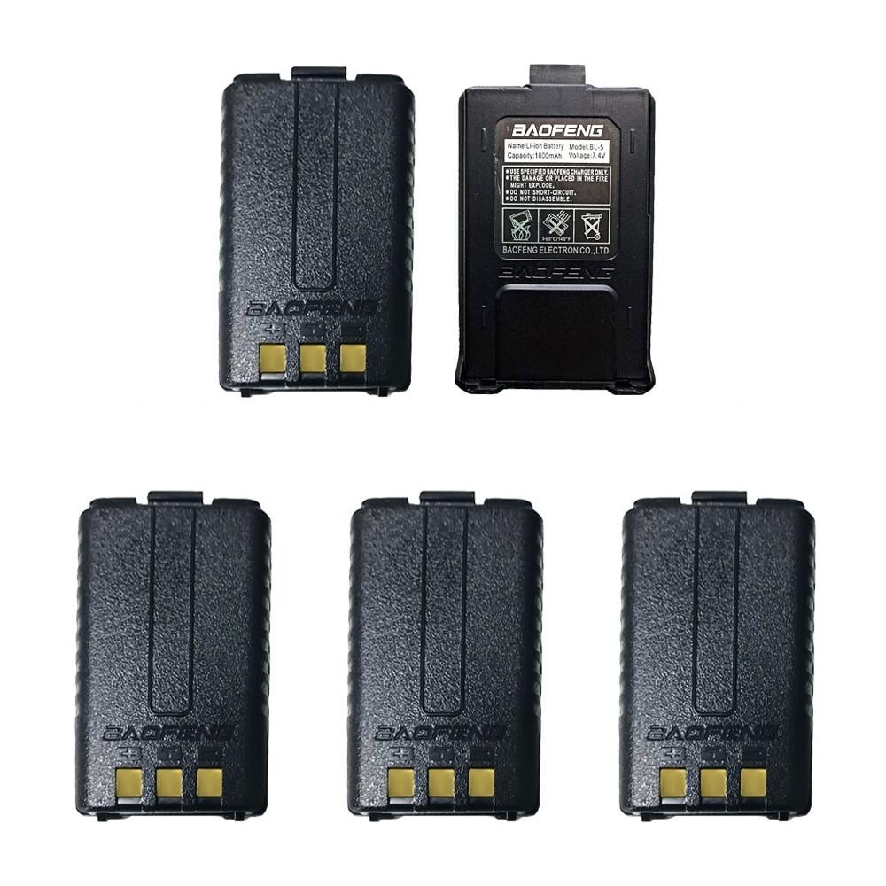 5 個 Baofeng UV 5R バッテリーオリジナル UV 5R 5RE ラジオバックアップバッテリートランシーバー 1800  3000mah のリチウムイオン電池 BL 5 7.4 12V 充電式 -    グループ上の 携帯電話