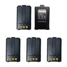 5 個 Baofeng UV 5R バッテリーオリジナル UV 5R 5RE ラジオバックアップバッテリートランシーバー 1800 3000mah のリチウムイオン電池 BL 5 7.4 12V 充電式