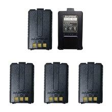 5Pcs Baofeng UV-5R Battery Original UV 5R 5RE Radio Backup Battery Walkie Talkie 1800mah li-ion Batteries BL-5 7.4V Rechargeable