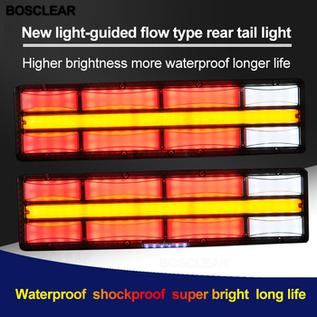 2pc New Led light-guide Optical fiber Strobe Light Strobe Flashing Lightbar Truck Car Beacon Lamp Amber Yellow Traffic Light 24V