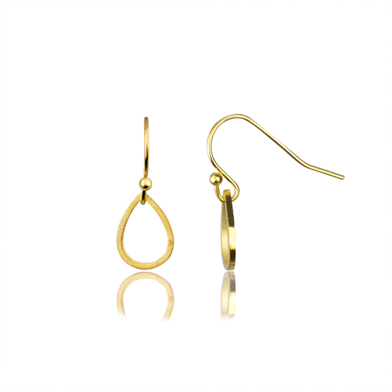 Silver Color Waterdrop Earrings Women Stainless Steel Dangle Open Teardrop Shape Earing Fashion Jewelry