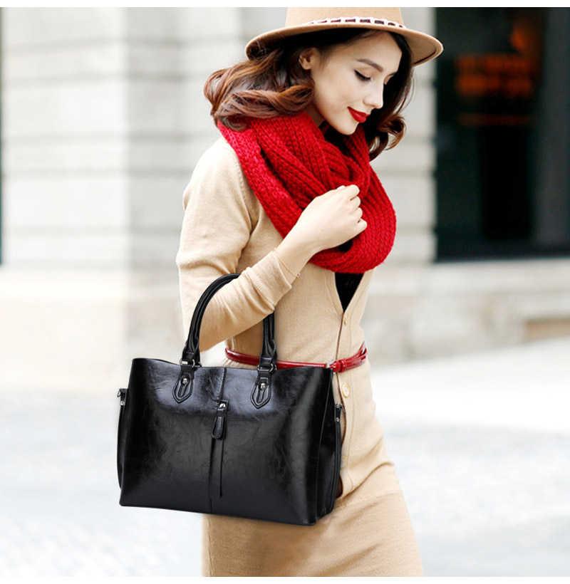 Mewah Kulit Lembut Tas Wanita Fashion Sederhana Tas untuk Wanita 2019 Baru Wanita Kapasitas Tinggi Kualitas Tas Bahu Bolsos Mujer
