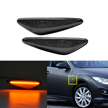 цена на 2PCS Amber LED Front Side Marker Light For  Mazda MX-5 MX-6 16-up, for RX8 09-12,Powered by 36-SMD LED, Replace OEM Sidemarker