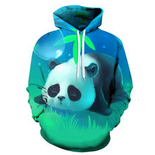 Весенне Осенняя детская толстовка с 3d принтом панды и животными