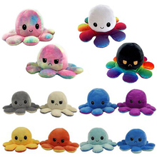 Stuffed Doll Toy Plush-Toy Simulation-Octopus Moods Flip Soft Kids Show for Different-Sides