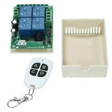 433 МГц 4CH Универсальный беспроводной Радиочастотный пульт дистанционного управления умный переключатель модуль приемника с передатчиком п...