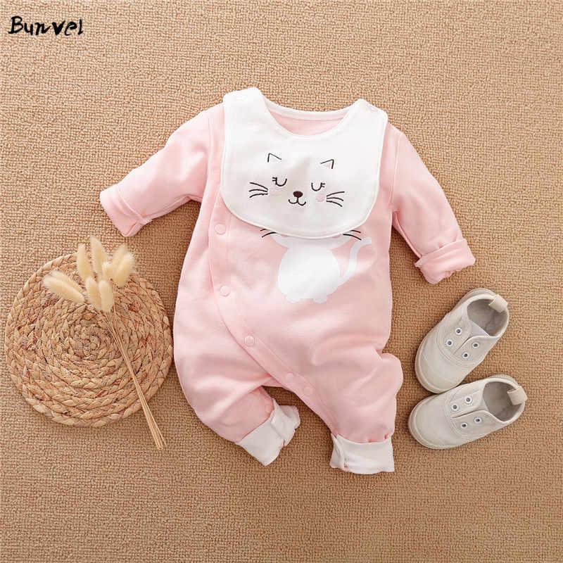 Bunvel בני Rompers ילדי Romper קיץ אביב 0-12M גיל תינוקות דינוזאור הדפסת פעוט יילוד תלבושות תינוק בנים בגדי 2020