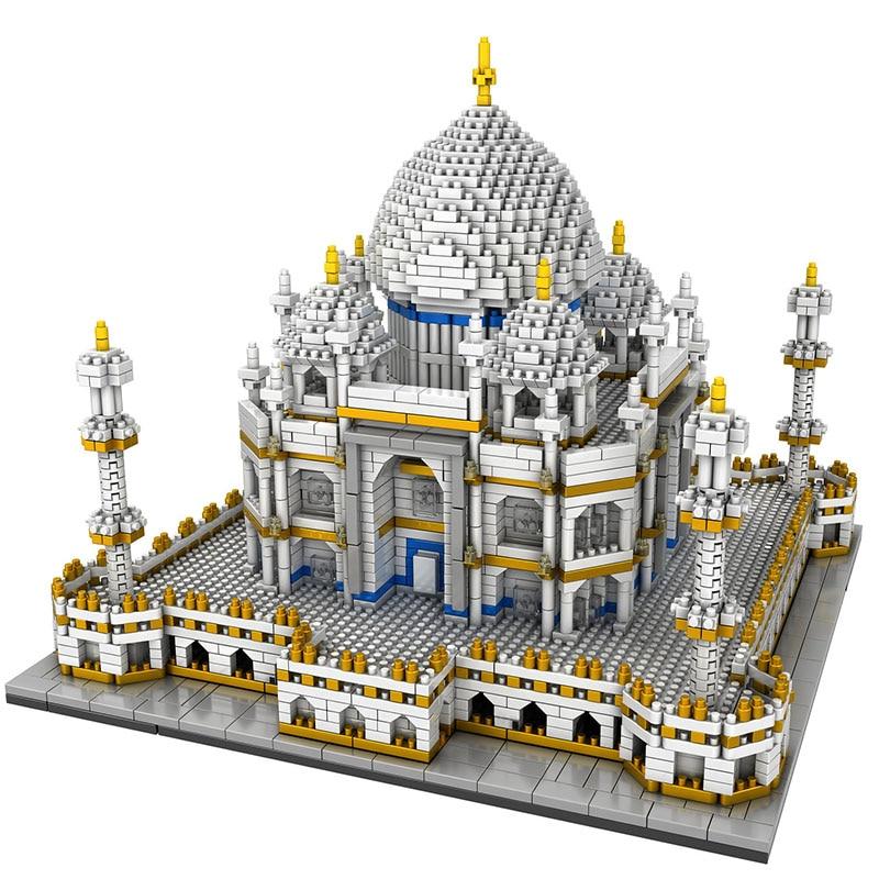 MINI 3950PCS Building Blocks City Architecture Land Marks Taj Mahal Palace Bricks 3D Model Toys For Kids BIRTHDAY GIFT