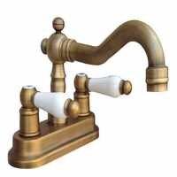 """Juego de centro de mesa de 4 """"de latón antiguo para baño con dos agujeros para grifo de lavabo"""