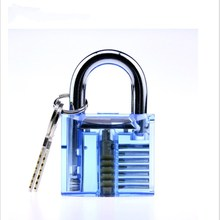 Transparent Lock Transparent Padlock Practice Lock Crystal Transparent Lock Hardware Civilian Lock Core Lock 乐扣乐扣(lock