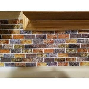Плитка для очистки и прилипания кухонная плитка 12 ''x 12'' Смола 3D Настенная Наклейка Настенная бумага 10 плиток/упаковка