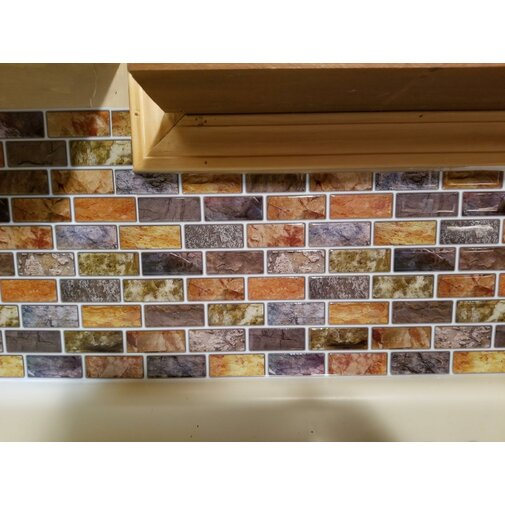 Schil en plak tegels keuken backsplash tegel 12 `` x 12 '' hars 3D muursticker behang 10 tegels / pack