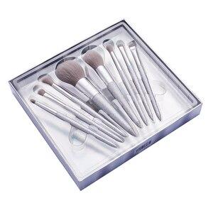 Image 3 - Jessup escova de maquiagem beleza brilhante festa kits compõem escovas pó blush mistura contorno sombra lápis