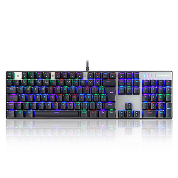 MOTOSPEED CK104 Mechanical Gaming Keyboard 104 Keys USB Wired Keyboard with Colorful Backlight French Keyboard Blue Switches