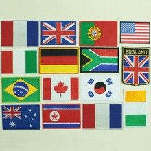 Страны нашивки с флагами рюкзак для одежды Железный Флаг значок нашивки для одежды шляпа и сумка декор обуви мода DIY рука значок