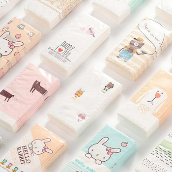 Cartoon Printed Paper Tissues 6 Packs Set Personal Hygiene Toilet & Tissue Papers