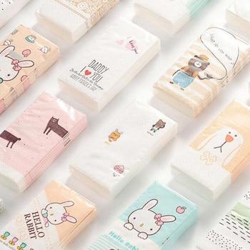 6Pack/Lot New Color Printed Tissues Fashion Environmental Animal Pack 10 Sheet Cute Portable Facial Tissue