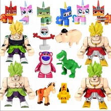 Anime Legoing 4 Brolly Dragon Ball Super Big Size Toy Story Lotso Rex o Dinossauro Verde Dos Desenhos Animados Do Gato Filme Legoings animes Figura(China)