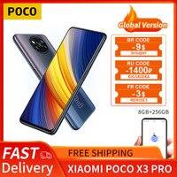 POCO X3 Pro Globale Version 8GB + 256GB Xiaomi Smartphone Snapdragon 860 120Hz DotDisplay 5160mAh 33W NFC Ladung Quad AI Kamera