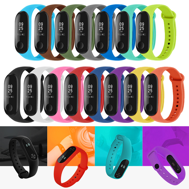 Gosear Assorted Colors Replacement Wristband Watch Strap Band Watchband for Xiaomi Mi 3 4 5 Mi5 Smart Bracelet Accessories